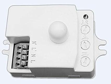 QUICK SENSE 360 Degree Microwave Motion with Light Sensor (White)