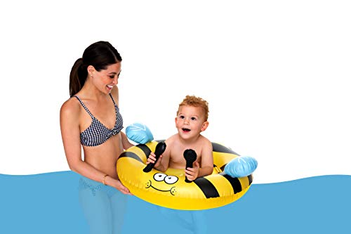 BigMouth Inc Lil Float Bumble Bee Baby, Baby Pool Float, Dual-Chamber Safety Design, Durable Vinyl, Holds 45 - Bee Bumble Leg