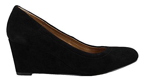Black 7 Suede Lux Vionic Medium Camden 5 Wedge New Women's Size x87RqRwfX
