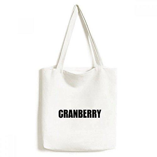 Cranberry Fruit Name Foods Environmentally Tote Canvas Bag Shopping Handbag Craft Washable