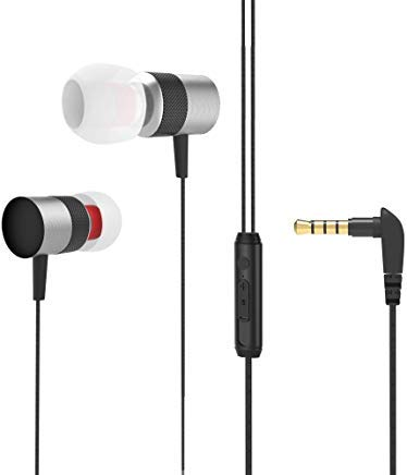 Earphones Wired Earbuds Headphones in Ear Earbuds with mic Sport Noise Cancelling Earbud Best bass Stereo Android Earphones for iPhone,Samsung,ipad,iPod (Black)
