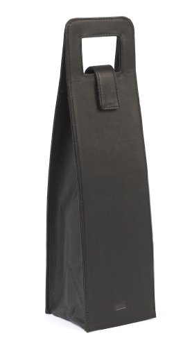 Claire Chase Wine Carrier, Black, One Size