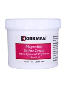 Magnesium Sulfate Cream 4oz THREE BOTTLES Code KL225/4 Brand: Kirkman Labs
