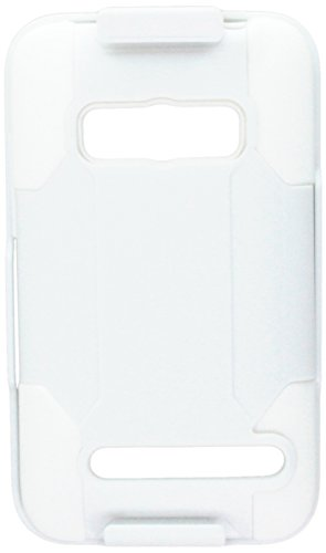 Reiko Premium Hybrid Case Plus - Carcasa para HTC Evo 4G (función atril), Blanco