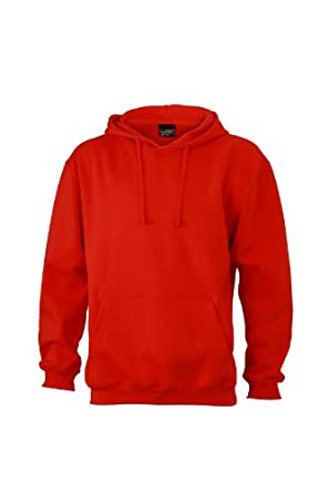 James & Nicholson Unisex Sweatshirt Hooded Sweat - Hoodie - Red (Tomato),  Small