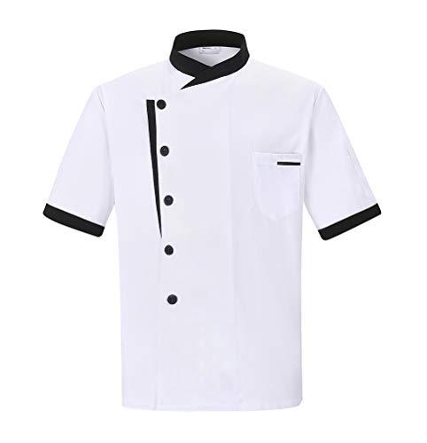 Nanxson Chaqueta de Chef Cocinero con Chaqueta Unisex Hotel/Cocina Manga Larga Ropa de Trabajo Uniforme Chef Coat Blanco…