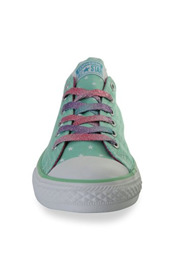 Converse Kids Lurex Star and Bars Chuck Taylor All Star Unisex Trainers Peppermint Green exclusive outlet best seller clearance deals rsjW8rq
