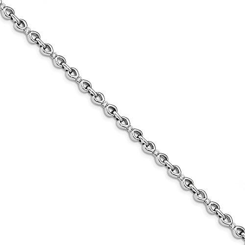 14k White Gold Diamond Bracelet 7inch (0.75ct, H/SI2)