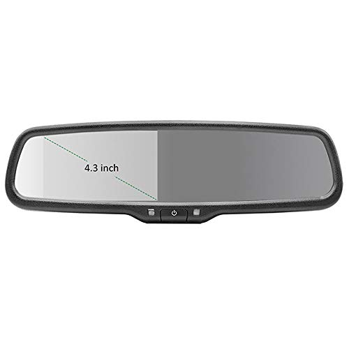 MINBB Car Parking Assistance Auto Parking Assistance Parking Assistance 4.3 Inch Rearview Mirror Monitor TFT LCD 2RCA Video Player Auto Dimming