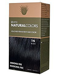 ONC NATURALCOLORS 1N Black Healthier Permanent Hair Color - 120 ml (4 fl. oz.)  Ammonia Free,Natural Hair Dye, No Parabens - Premium Salon Quality