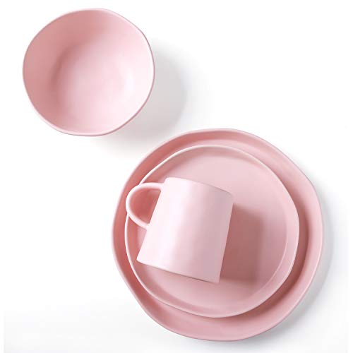 Pink Dinnerware Sets - Le Tauci 4 Piece Matte Glaze