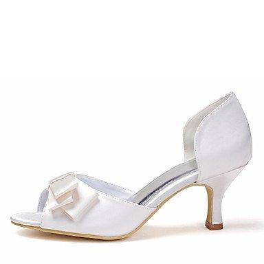 Satin Summer Spring Fall Women'S Heel Flower Ivory Satin CN39 Wedding Stretch EU39 US8 Stiletto Ivory Satin UK6 zUqBw