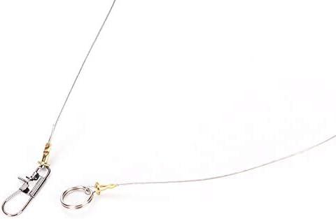 5 Anti-Winding 3Swivel String Fishing Hook Steel Rigs Wire Leaders Hook Steel*/_*