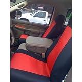 Classic Premium Bucket Cloth Car Truck Auto Seat Covers Red / Black color