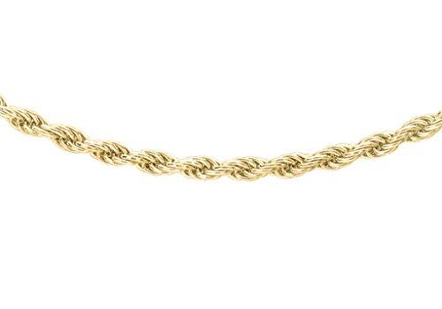 """Chaîne torsadée en or jaune 9carats 3076cm/30"""""""