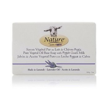 Nature By Canus Goat's Milk Soaps with Lavender Oil 5 oz Bar Soaps Pack of 3