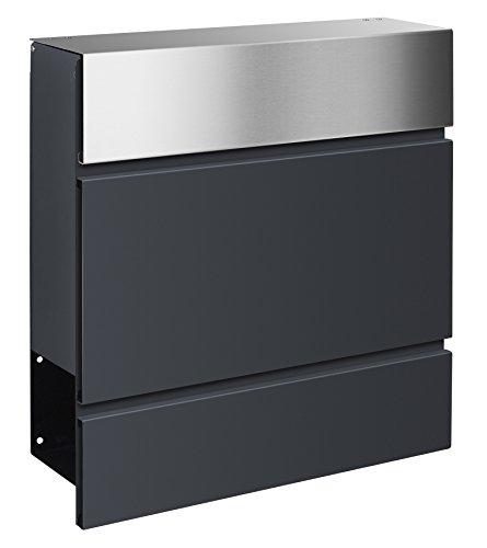Briefkästen Design frabox design briefkasten lens edelstahl anthrazitgrau amazon de