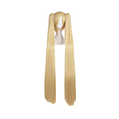 MapofBeauty Blonde Ponytails Party Costume 47Inch 120cm Cosplay Wig -