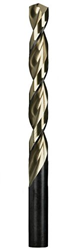 High Speed Steel 5//32 Fractional Size Rocky Mountain Twist 95004806 Series #JH522-P Jobber 3-1//8 Length 135/° Split Point HSS Parabolic Black and Gold Pack of 12 2 Flute Length