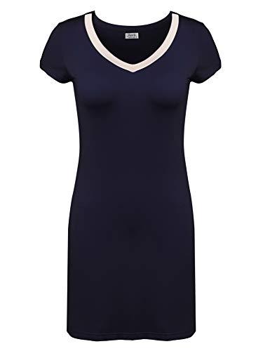 Joyaria Sleep Tee V-Neck Loungewear Plus Size Soft Viscose Nightdress ()