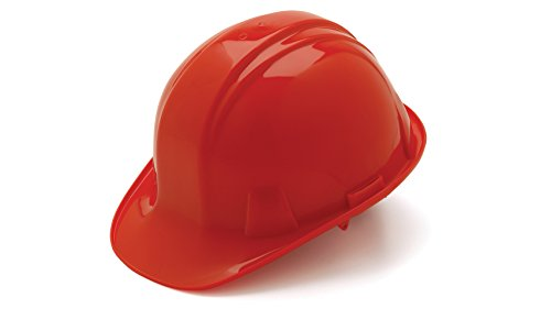 Pyramex Red Cap Style 4 Point Ratchet Suspension Hard Hat