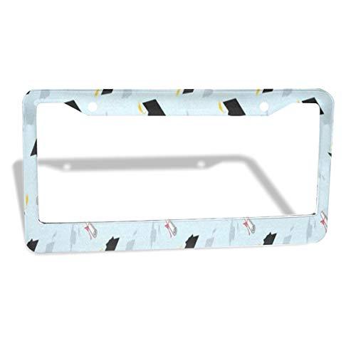 - Love beautiful Graduation Cap License Plate Frames 2 Pack for Cars Waterproof Aluminium Metal Custom Womens Slim License Plate Cover 2 Holes 12