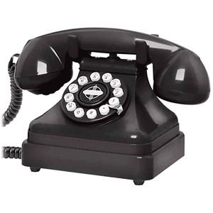 Crosley CR62 Kettle Classic Desk Phone Black