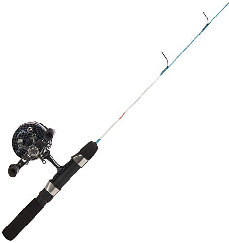 Eagle Claw Cold Smoke Inline Ice Light Fishing Combo, 24-Inch, Water Camo
