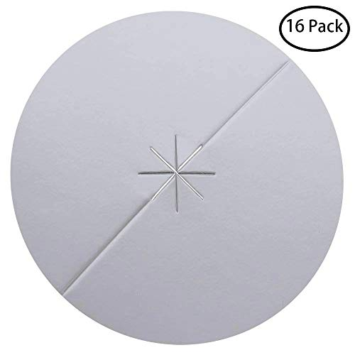 PAGOW 24-Pack Beeswax Candle Protectors - Personal Ear Care Protective Disk/Disc (Dia. 8cm)