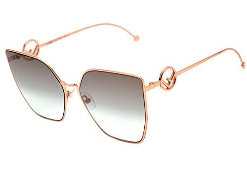 Fendi Ff 0323 S - Óculos De Sol Ddb 86 Dourado Brilho/cinza
