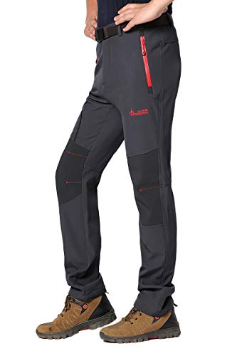 Wantdo Men's Waterproof Mountain Pants Fleece Windproof Ski