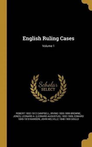 English Ruling Cases; Volume 1 pdf