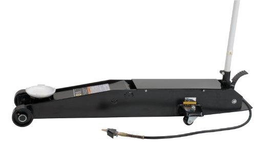 Omega 22051C Black Hydraulic Long Chassis Service Jack - 5 Ton (Air Hydraulic Long Chassis)