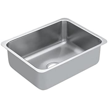 Moen G18191 1800 Series 18 Gauge Single Bowl Undermount Sink, Stainless Steel by Moen