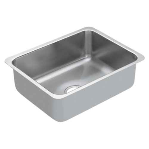 Moen G18191 1800 Series 18 Gauge Single Bowl Undermount Sink, Stainless Steel by Moen by Moen