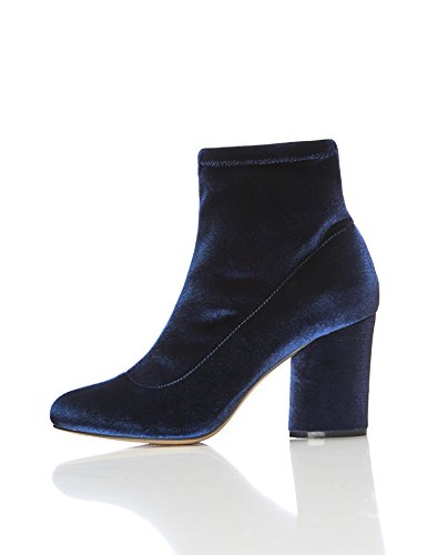 Blau FIND Stretch Women's Boots Navy Ankle Velvet gnXq7w
