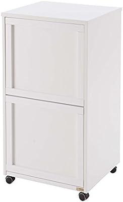 2 contenedores extra/íbles Arredamenti Italia Mueble para reciclaje de basura MADERA 2 madera Color: Blanco Ar-It il cuore del legno