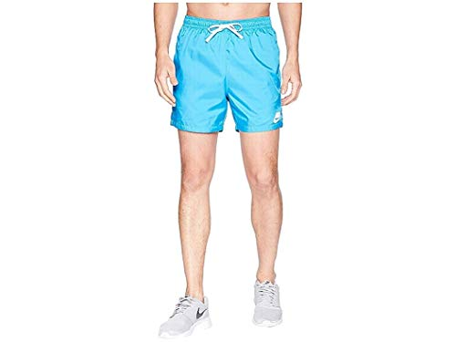 Nike Mens Woven Flow Short Equator Blue/White/White 2XL 5.5