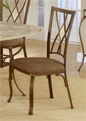 Hillsdale Brook Diamond Back Fabric Dining Chair in Brown (Set of 2)