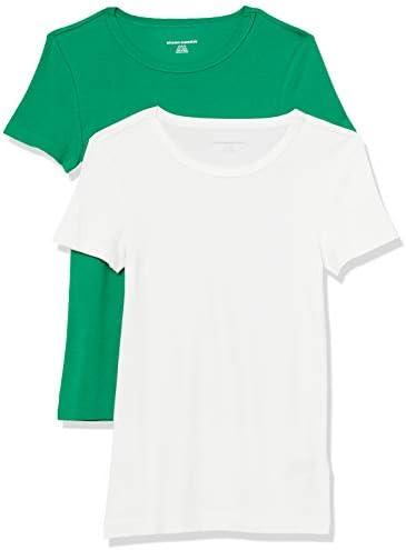 Amazon Essentials Women's 2-Pack Slim-Fit Short-Sleeve Crewneck T-Shirt