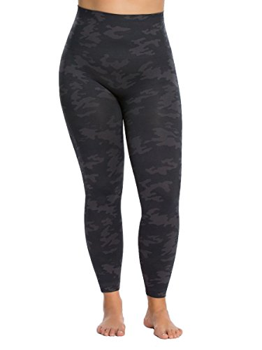 SPANX Plus Size Look at Me Seamless Leggings, 1X, Black Camo by SPANX (Image #1)