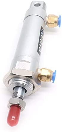 Double Action 32 mm Double Action Pneumatic Cylinder with Single Stem with Y Connector and 4 x Quick Air Connector MAL32X75