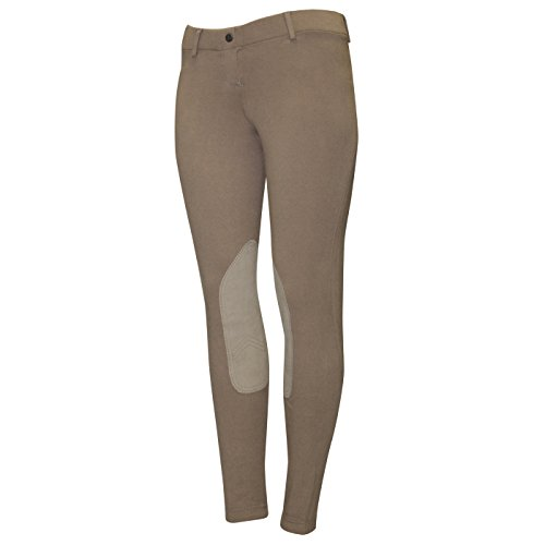 ELATION Riding Breeches for Women Red Label - Easy Pull-On Equestrian Riding Pants (Duff 24R) (Knee Tights Patch Riding)
