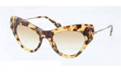 Miu Miu 04PS 7S09S1 Tortoise 04PS Glow Cats Eyes Sunglasses Lens Category - Miu Eye Cat Miu Sunglasses Tortoise