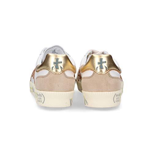 Cuero Premiata Andy3900 Mujer Blanco Zapatillas HgA4qx