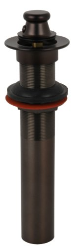 Vessel Sink Drain, Oil Rubbed Bronze Finish, Lift and Turn Type - By Plumb USA