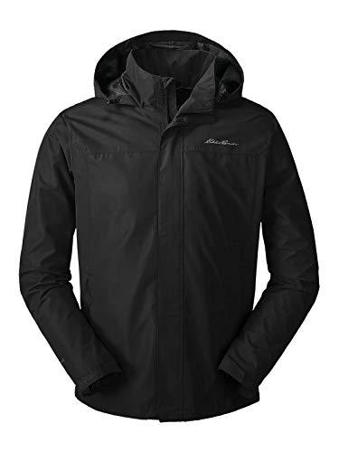 Eddie Bauer Men's Rainfoil Packable Jacket, Black Regular - Jacket Rain Check Lightweight