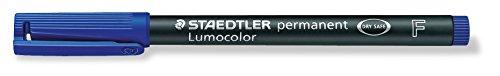STD3183 Lumocolor Permanent Marker, Fine Point, Blue Ink