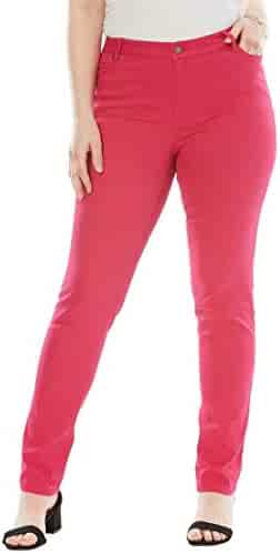 854f70c791aac Women s Plus Size Straight Leg Jean with Invisible Stretch