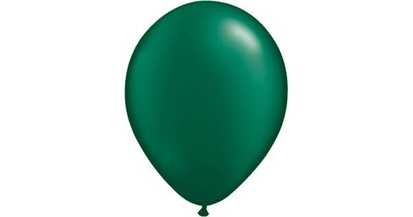 """Perla Verde Bosque Qualatex 5 /""""Látex Globos X 10"""